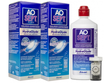 Płyn do soczewek Aosept Plus Hydraglyde 2x360ml