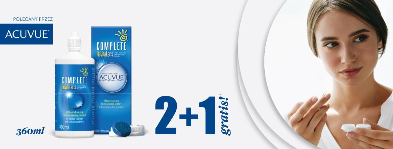 Płyn do soczewek Complete Revitalens 2x360ml + 360 ml gratis